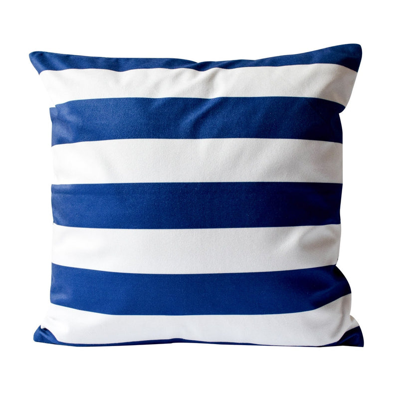 Dumar White and Blue Vertical Stripe Cushion Cover