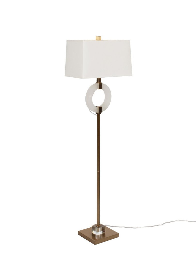 Julius Marble and Brass Ring Floor Lamp