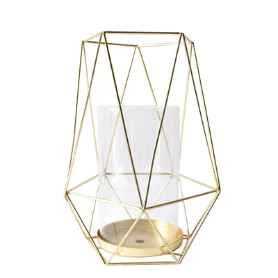 Geometric Gold Candle Holder (Large) - Home Artisan_2