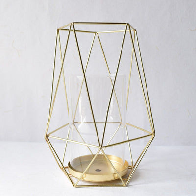 Geometric Gold Candle Holder (Large) - Home Artisan_1