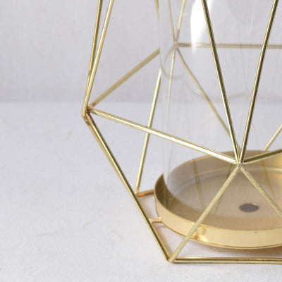 Geometric Gold Candle Holder (Large) - Home Artisan_3