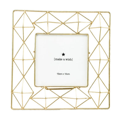 Geometric Golden Photo Frame (4x4) - Home Artisan_2