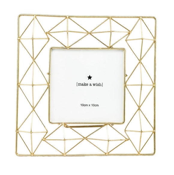 Geometric Golden Photo Frame (4x4)