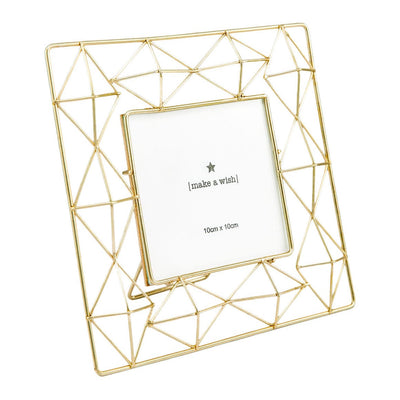 Geometric Golden Photo Frame (4x4) - Home Artisan_3