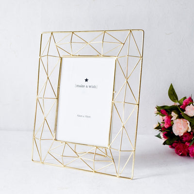 Geometric Golden Photo Frame (4x6) - Home Artisan_1