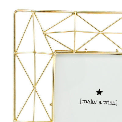 Geometric Golden Photo Frame (4x6) - Home Artisan_4