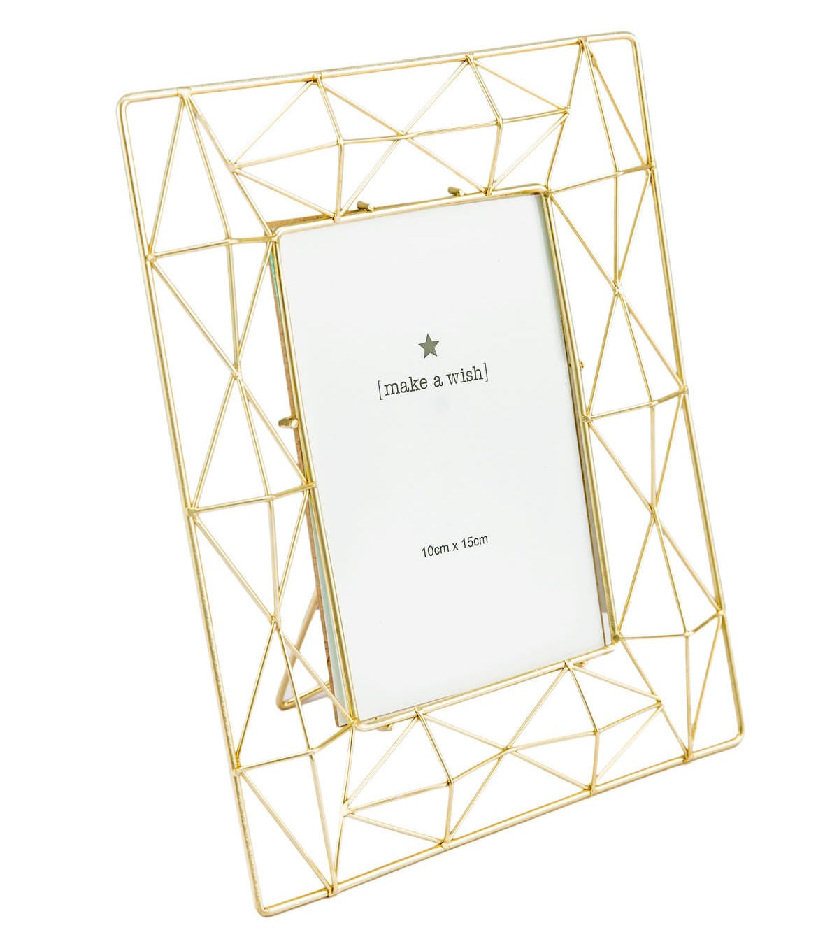 Geometric Golden Photo Frame 4x6