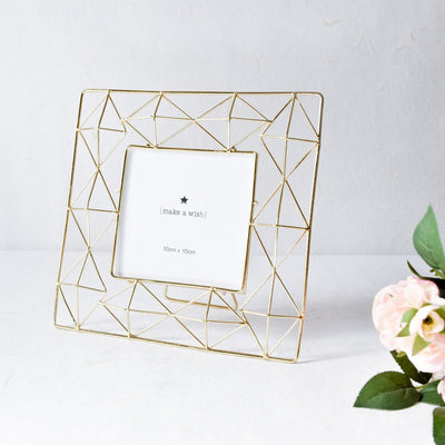 Geometric Golden Photo Frame (4x4) - Home Artisan_1