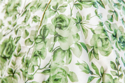 green-rose-floral-print-bed-sheet-4-Home Artisan