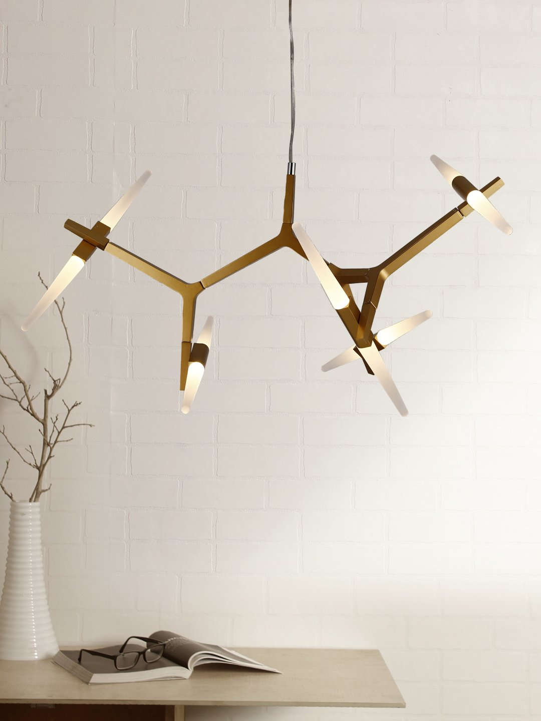 Julius 10-Light Baton Chandelier - Home Artisan