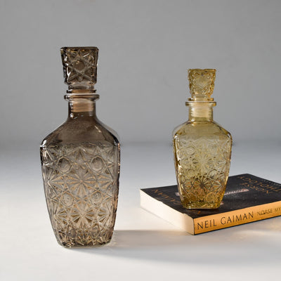 Decorative Etched-Glass Bottle (Large)