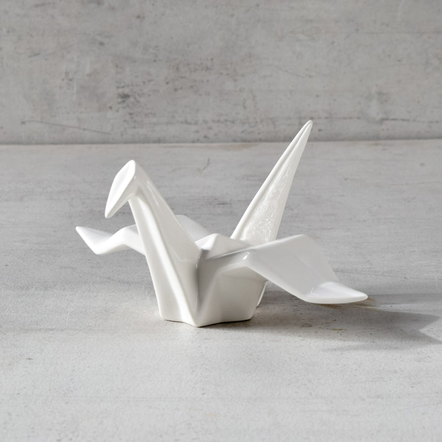 Origami Crane Ceramic Sculpture