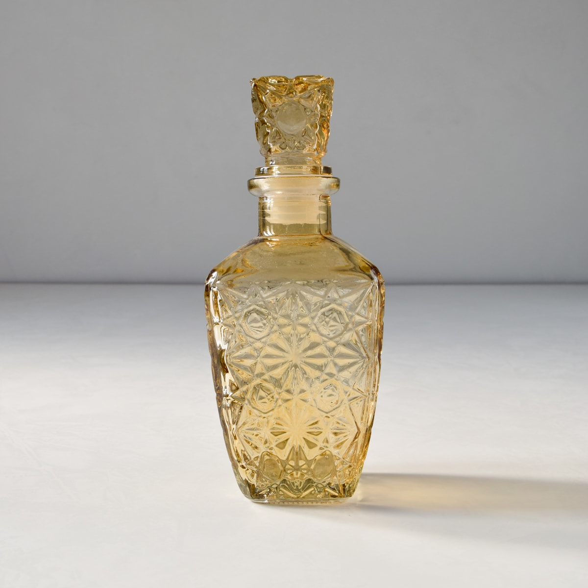 Decorative Etched-Glass Bottle (Small)
