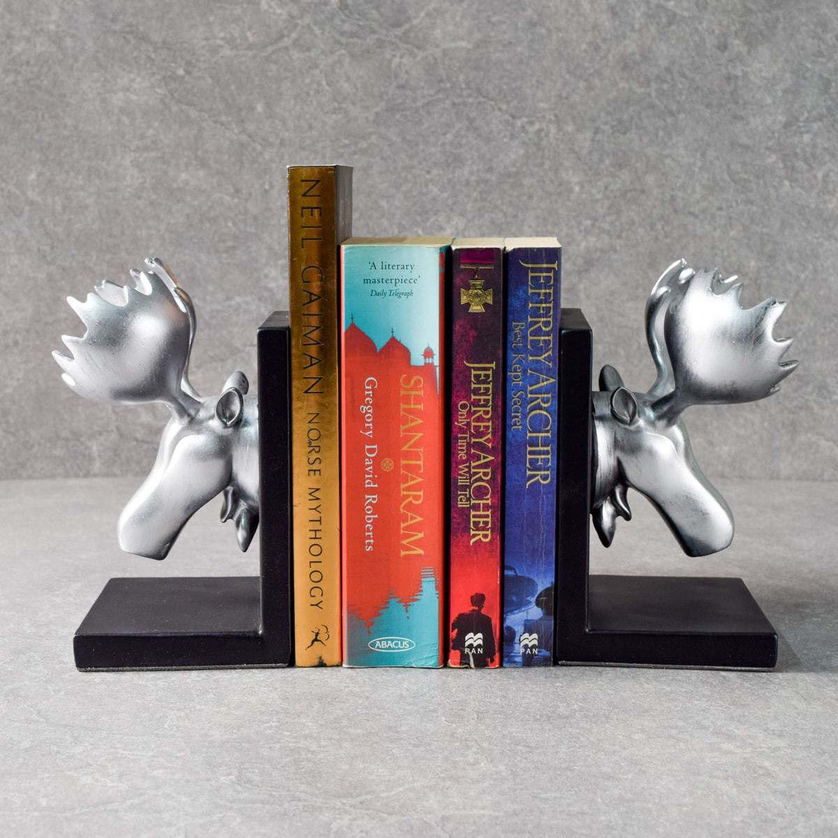 Blitzen Moose Bookends