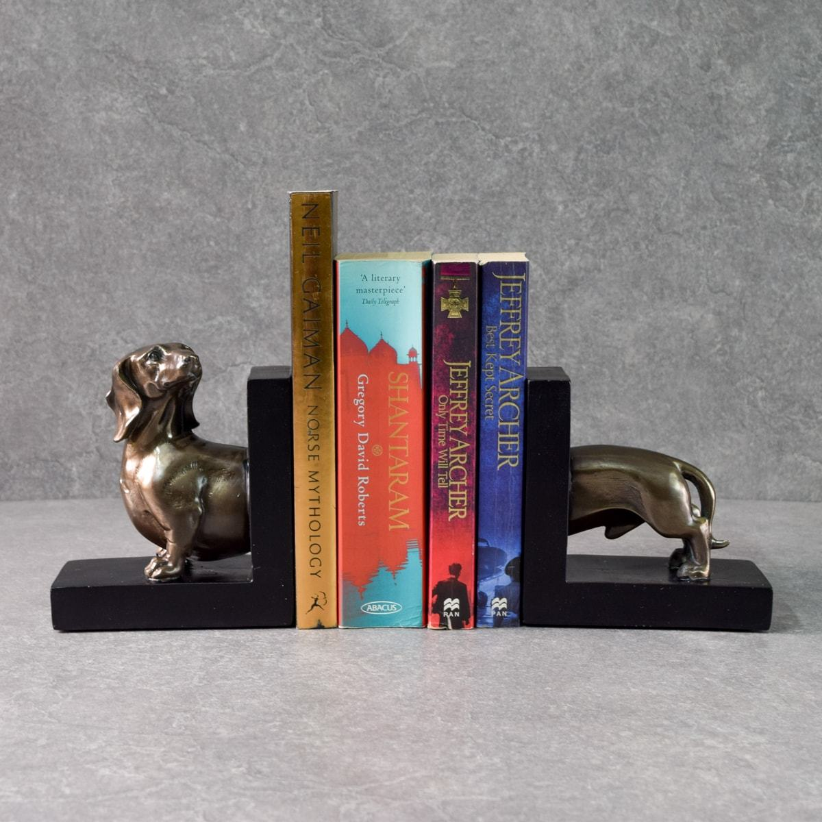 Waldo Dachshund Bookends