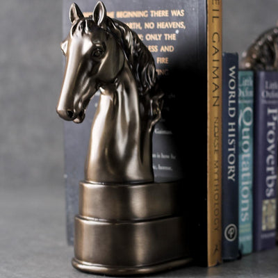 Corvus Horse Bookend Sculptures