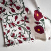 Red Poppy Hand Block Print Bed Sheet - Home Artisan_3