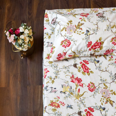 Kelly Floral Print Bed Sheet - Home Artisan_2