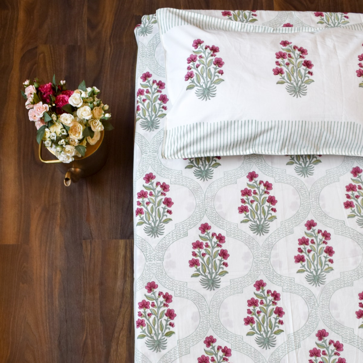An Indian Summer Hand Block Print Bed Sheet - Home Artisan_2