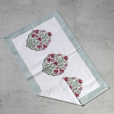 Himalayan Wildflower Hand Block Print Bed Sheet