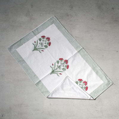 Spring Garden Hand Block Print Bed Sheet