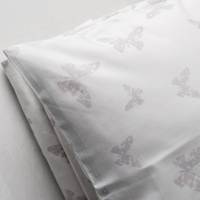 Isadora Butterfly Print Percale Bed Sheet