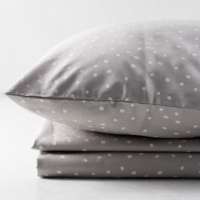 Madison Polka Dot Percale Bed Sheet  - Home Artisan
