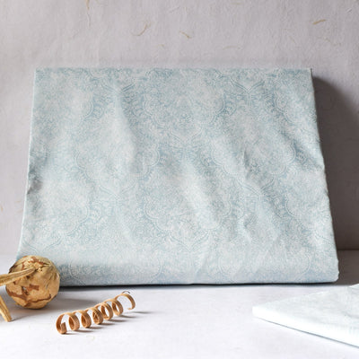 Moira Powder Blue Bed Sheet - Home Artisan_1