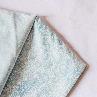 Moira Powder Blue Bed Sheet - Home Artisan_3