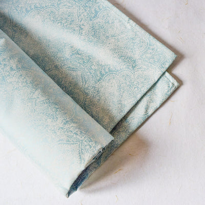 Moira Powder Blue Bed Sheet - Home Artisan_5
