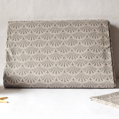 Irene Brown Palm Leaf Bed Sheet - Home Artisan_1