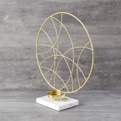 Andrea Circular Shaped Candle Holder - Home Artisan