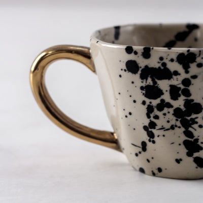 Dalmatian Ceramic Cup with Golden Handle - Home Artisan_3