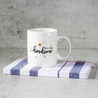 Hello There Handsome Ceramic Mug - Set of 2