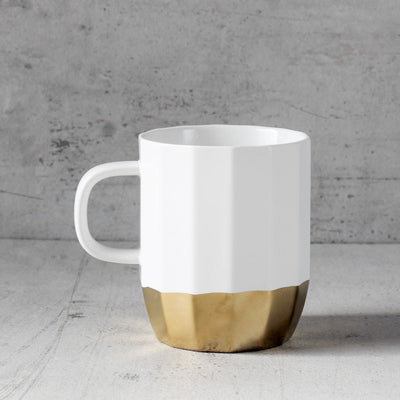 Ivory and Gold Ceramic Mug - Home Artisan