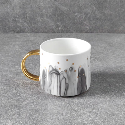 Jacob Black Ceramic Cup with Golden Handle - Home Artisan