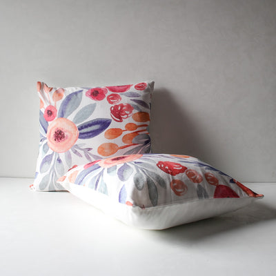 Priscilla Floral Print Cushion Cover - Home Artisan_2