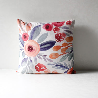 Priscilla Floral Print Cushion Cover - Home Artisan_1