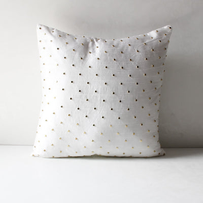 Pandora Golden Beadwork Cushion Cover - Home Artisan_3