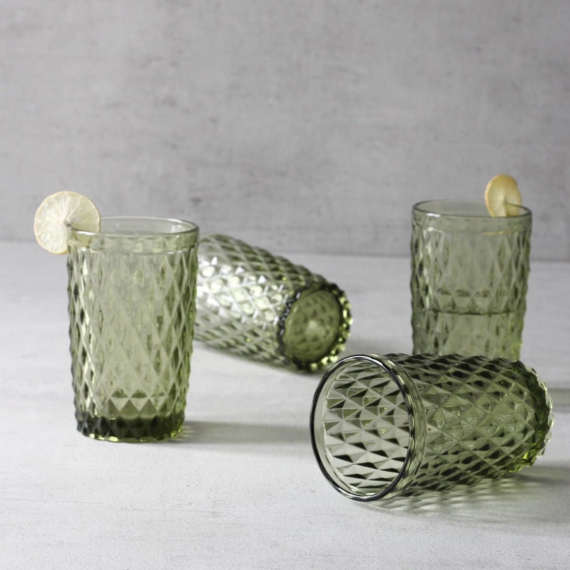 Atwood Kale Drinking Glasses - Set of 4