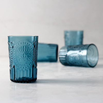 Isadora Blue Drinking Glass - Set of 4