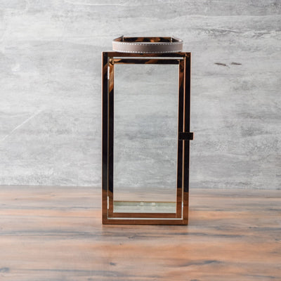 Ayden Rose Gold Lantern - Large