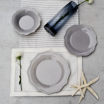 Pandora Grey Ceramic Dinner Plates (Set of 2 / 4) - Home Artisan_3