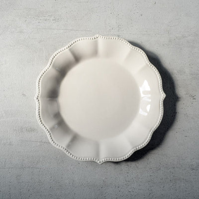 Morgan White Ceramic Dinner Plate - Home Artisan