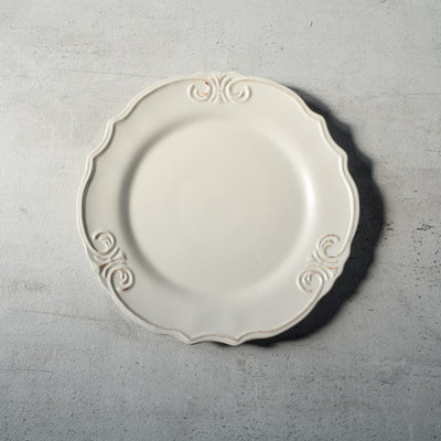 Naomi White Ceramic Dinner Plate - Home Artisan