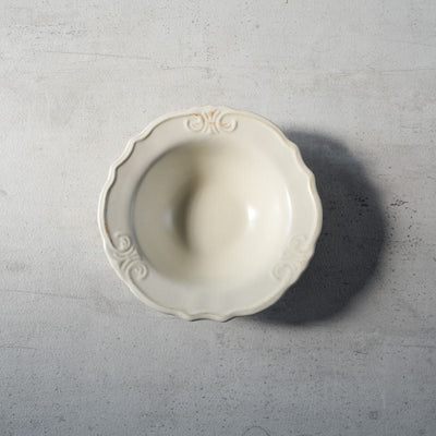 Naomi White Ceramic Bowl - Home Artisan