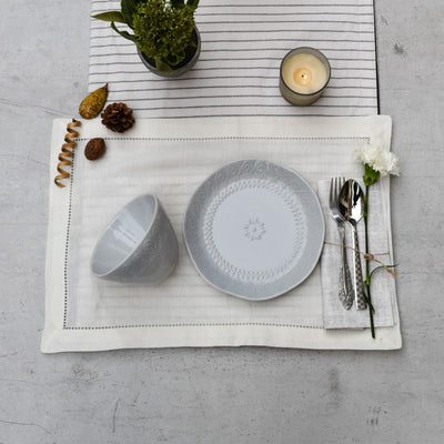 Sydney Etched Pattern Powder Blue Plate and Bowl - Home Artisan_1