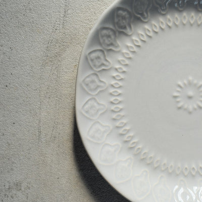 Sydney Etched Pattern Powder Blue Plate and Bowl - Home Artisan_4