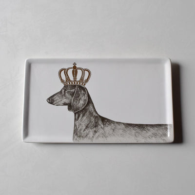 Blakely Crowned Dachshund Platter - Home Artisan