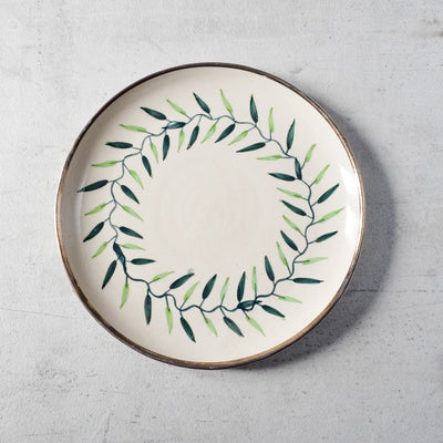 Emma Green Foliage Ceramic Dinner Plate - Set of 2
